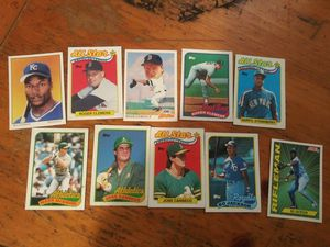 1989 baseball topps cards of star players for Sale in Fresno, CA