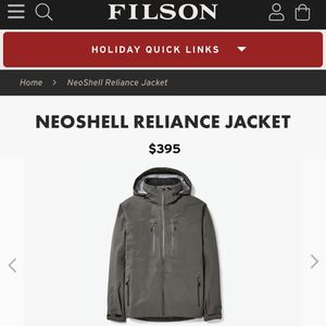 Filson Waterproof Jacket for Sale in Dallas, TX