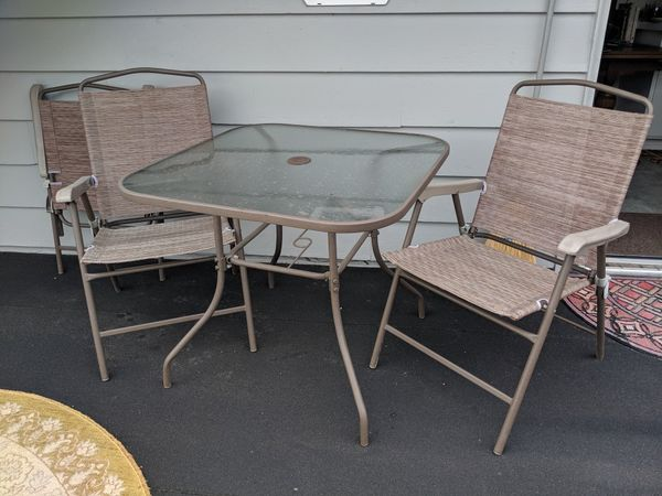 Outdoor table and chairs set of 4 furniture