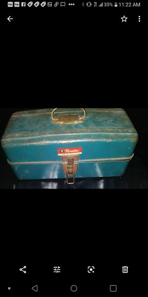 Antique fishing tackle box for Sale in Long Beach, CA