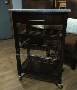 Wine storage cart with granite top for Sale in Gibsonia, PA