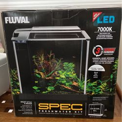 Fluval 2.6 Gallon Self Contained Fish Tank Aquarium + Extras! for Sale in Stamford,  CT