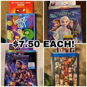 Frozen, Inside, Isle, Endgame movie digital codes for Sale in Henderson, NV