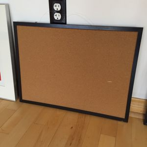 Black framed cork board for Sale in Boston, MA