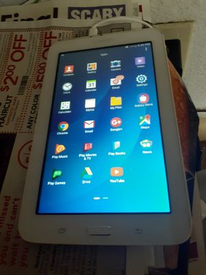Samsung Tablet w/ Charger (Android 4.4.4 version. Fully updated) for Sale in Tempe, AZ