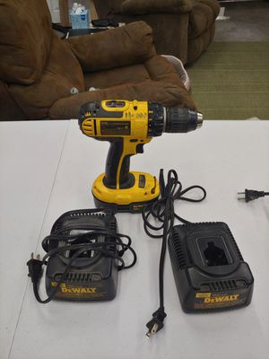 Dewalt 18 volt drill with battery and two chargers for Sale in Tacoma, WA