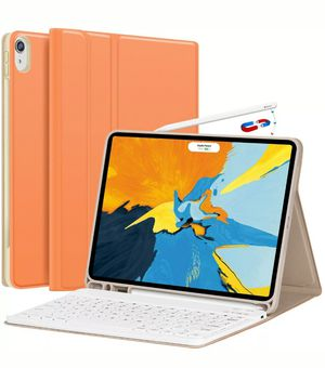 Papaya Color iPad Pro 11 Case with Keyboard 2018 - Detachable Wireless Keyboard for Sale in Hawthorne, CA