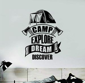 PRE MADE Wall Decal Home Decor Camp Explore Dream Discover Tent for Sale in Long Beach, CA