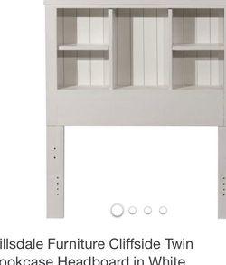 Twin Bookcase Headboard White for Sale in Burke,  VA