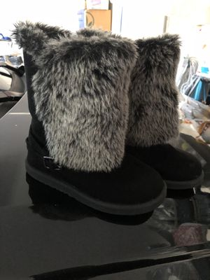 Girls Black Boots Size 1 for Sale in Fontana, CA