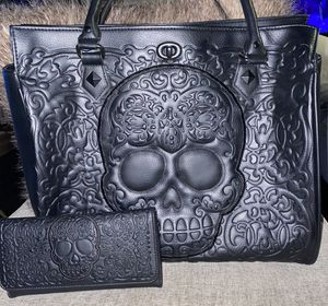 Loungefly skull purse and wallet for Sale in Denver, CO