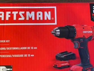 Craftsman 20V MAX 20 volt Brushed Cordless Compact Hammer Drill/Driver 1/2 in. Kit 1500 rpm for Sale in Glen Burnie,  MD