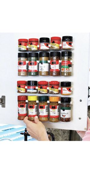 Brand New Spices Organizer Rack 20 Clips for Cabinet Door & Pantry Door & Walls for Sale in Las Vegas, NV