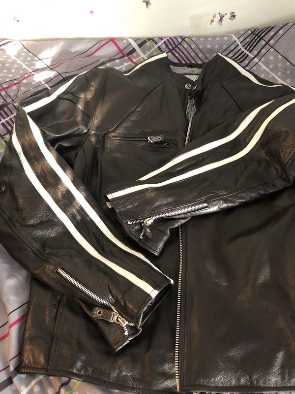 Black leather jacket, Wilsons Leather, M. Julian