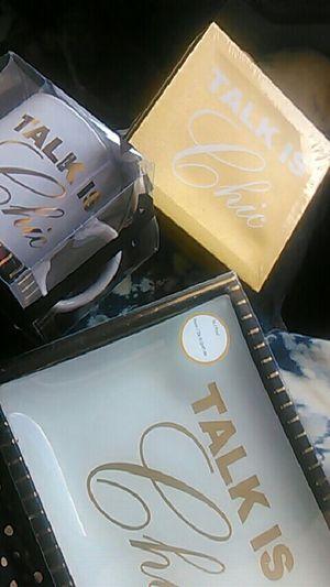 Talk is chic desktop items. $25 (brand new) for Sale in Lakeland, FL
