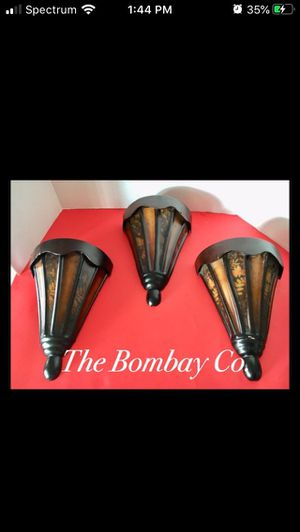 Three Bombay Company Wall Vases for Home Decor for Sale in Arlington, TX