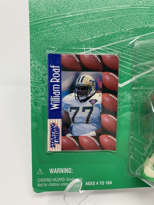 Vintage New Orleans Saints Great William Roaf STARTING LINEUP ACTION FIGURES (1) [Brand New]