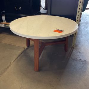 White/Acorn Medium Round Marble Coffee Table for Sale in Phoenix, AZ