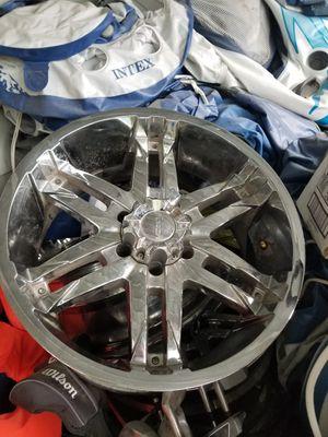 "20"" farza rims had them on 35"" x12 tires for Sale in Leavenworth, WA"