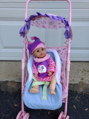 Stroller with baby doll, large size for Sale in Jackson Township, NJ