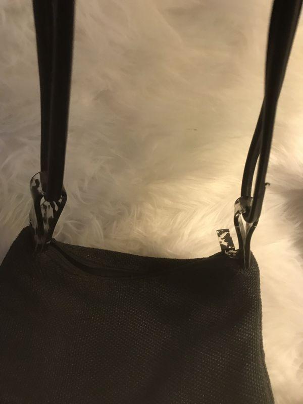 Adrienne Vittadini Black Summer Straw- like ladies hobo bag