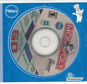 Monopoly CD Game by Pillsbury & InfoGrames for Windows 95 / 98 / ME 2003 for Sale in Stockton, CA