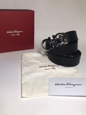 Salvatore Ferragamo Reversible Leather Belt **Authentic for Sale in Queens, NY