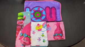 Twin size Trolls sheets and blanket for Sale in Queen Creek, AZ