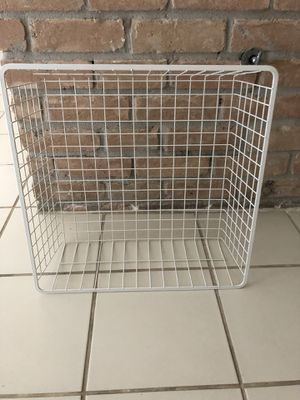5 Container Store white metal wire mesh drawers! I will split at $15 each! I have 14 of these! They hold tons!! for Sale in Houston, TX
