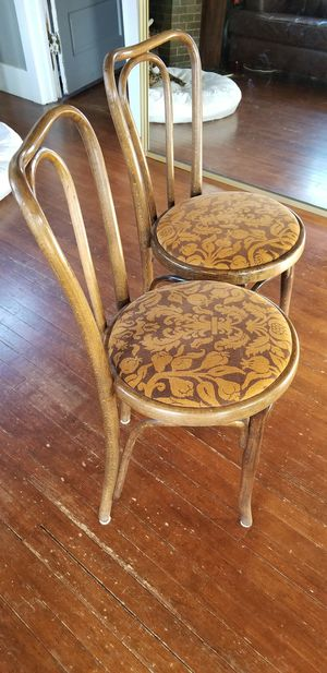 Vintage: 1900s Bentwood bistro chairs for Sale in Denver, CO