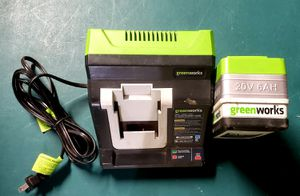 Greenworks 20v/ 6ah and charger for Sale in San Jose, CA