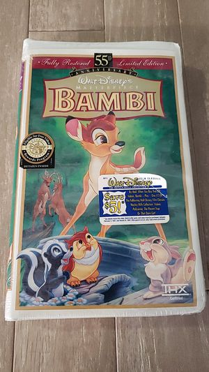 Disney bambi 55th anniversary sealed vcr movie for Sale in Fairfield, CA
