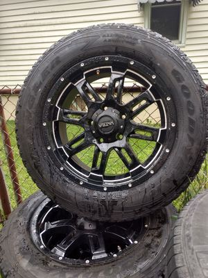 """20"""" Ultra Motorsports rims with Goodyear Wrangler tires for Sale in Columbus, OH"""