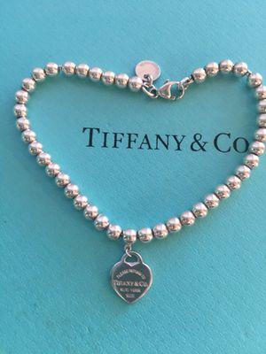 Tiffany 4 mm bead RTT heart bracelet for Sale in Laguna Beach, CA
