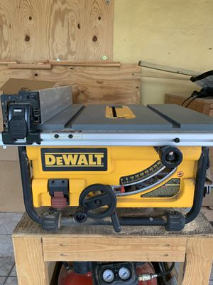 Dewalt Jobsite Table Saw DWE7480 and Wood stand for Sale in Miami, FL