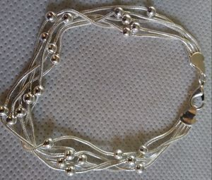 NEW 925 Sterling Silver Multi-Strand Charm Bracelet for Sale in Denver, CO