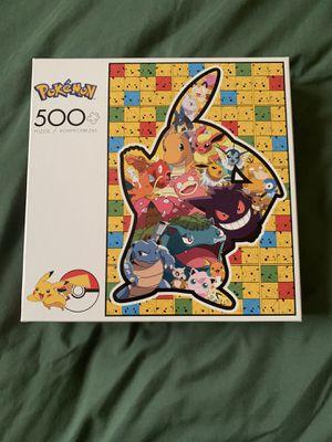 Pokemon Puzzle 500 Piece Pikachu Silhouette for Sale in Weston, FL