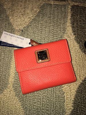 Dooney & bourke orange small wallet for Sale in Aspen Hill, MD