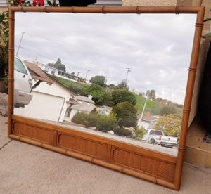 Beautiful HEAVY SOLID WOOD Oversized Large Wall Entry Buffet MIRROR for Sale in Monterey Park, CA