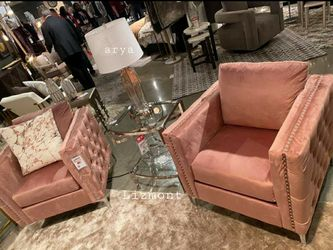 🔥Best Price Brand🆕️ ×2 Lizmont Pink Accent Chair D378👆In Stock👆 for Sale in Annandale,  VA