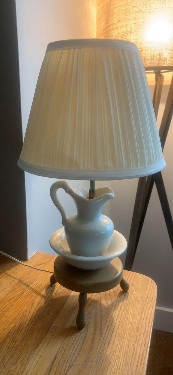 Vintage Side Table Lamp