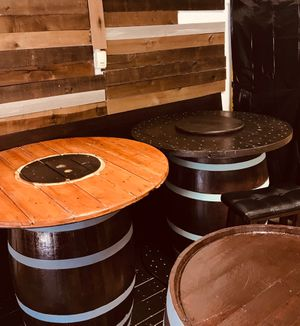 Restored Authentic Whiskey & Wine barrels with Interchangeable Tabletop for Sale, used for sale  Marietta, GA