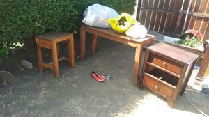 Wood tables and dresser for Sale in La Puente, CA