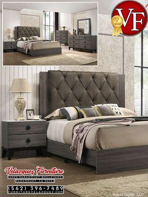 *LOW PRICE* BEDROOM SET BED+DRESSER+MIRROR+NIGHTSTAND (mattress not included) $548 for Sale in Diamond Bar, CA