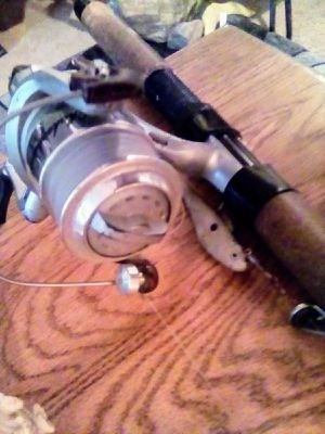 Olympic fishing rod with shakespeare reel for Sale in Arlington, WA