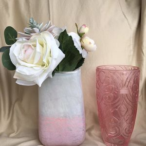 two Beautiful Pink Vases for Sale in Sherman, TX