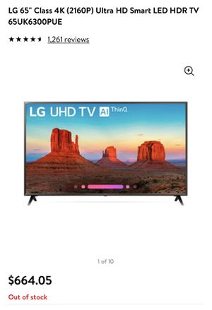 "LG 65"" Smart TV for Sale in Bethesda, MD"