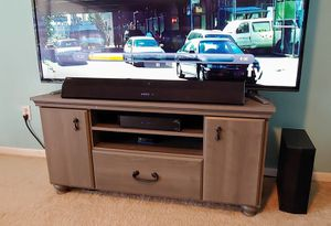 Haymeadow Corner TV StandGrey Wood with cabinets 47 x 19.5 x 22.5 for Sale in Largo, FL