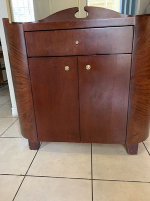 Heavy real wood cabinet with drawer. And lower storage with shelve very nice and good condition and quality for Sale in Las Vegas, NV