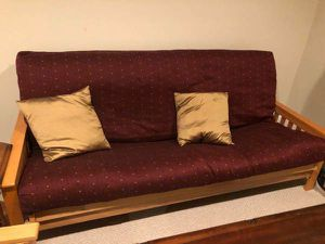 FUTON SOFA W/ MATTRESS AND MATCHING FUTON CHAIR for Sale in Bel Air, MD
